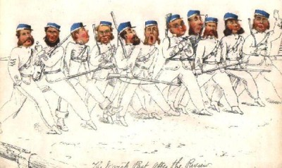 Victorian Rifle  Volunteers - 'The March Past After The Review'